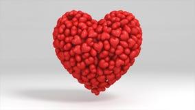 a ilustração 3D de um coração encheu-se com os corações pequenos ilustração stock