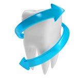 ilustração 3d de um dente Fotografia de Stock Royalty Free