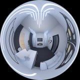 ilustração 3d de um escritório domiciliário em um estilo do espaço Imagens de Stock Royalty Free