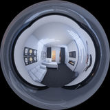 ilustração 3d de um escritório domiciliário em um estilo do espaço Fotografia de Stock