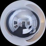 ilustração 3d de um escritório domiciliário em um estilo do espaço Imagem de Stock