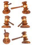 ilustração 3D de um martelo do juiz Imagens de Stock Royalty Free