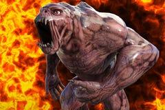 ilustração 3D de um monstro Imagens de Stock Royalty Free