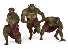 ilustração 3D de um monstro dos mutantes isolado no branco Fotografia de Stock
