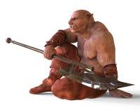 ilustração 3D de um monstro isolado no branco Imagens de Stock Royalty Free