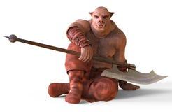 ilustração 3D de um monstro isolado no branco Foto de Stock