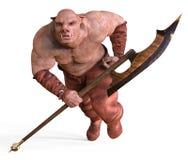 ilustração 3D de um monstro isolado no branco Fotos de Stock