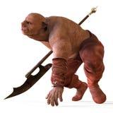 ilustração 3D de um monstro isolado no branco Fotografia de Stock