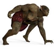 ilustração 3D de um monstro isolado no branco Fotos de Stock Royalty Free