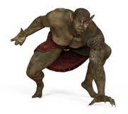 ilustração 3D de um monstro isolado no branco Imagem de Stock
