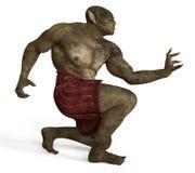 ilustração 3D de um monstro isolado no branco Imagens de Stock