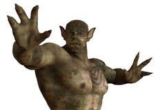 ilustração 3D de um monstro isolado no branco Imagem de Stock Royalty Free