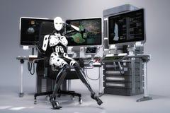 ilustração 3D de um robô fêmea ilustração royalty free