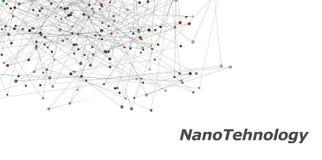 ilustração 3d de um símbolo da nanotecnologia Imagens de Stock