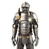 ilustração 3d de um terno de armadura completo isolado no fundo branco Fotos de Stock Royalty Free