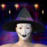 ilustração 3D de uma bruxa punk do goth ilustração royalty free