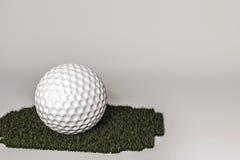 ilustração 3d de uma esfera de golfe render Foto de Stock Royalty Free