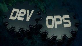 ilustração 3D: Desenvolvimento & operações imagem de stock