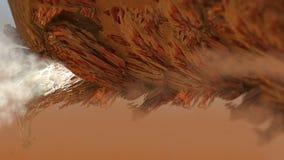 Ilustração 3d digital macro da estrutura geométrica abstrata da superfície da madeira do zepelim da rocha da natureza Fotografia de Stock Royalty Free
