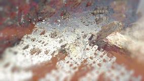 Ilustração 3d digital macro da estrutura geométrica abstrata da superfície da rocha da natureza Fotografia de Stock Royalty Free