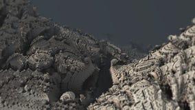Ilustração 3d digital macro da estrutura material de superfície abstrata da natureza da montanha ilustração royalty free