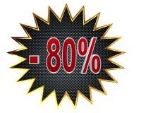 ilustração 3D Disconto sinal de 80 por cento Foto de Stock Royalty Free