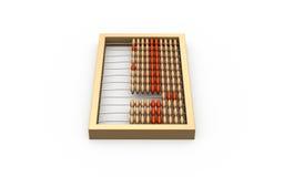 ilustração 3d do ábaco de madeira Foto de Stock