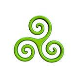 ilustração 3d do ícone do triskel Fotos de Stock