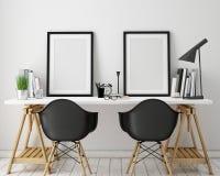 a ilustração 3D do cartaz molda o molde, zombaria do espaço de trabalho acima, Fotografia de Stock Royalty Free