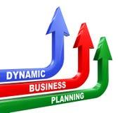 setas dinâmicas do planeamento empresarial 3d Imagens de Stock Royalty Free
