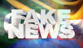 ilustra??o 3D do conceito falsificado da not?cia com a bandeira do fundo de Comores ilustração royalty free