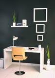 ilustração 3d do escritório espaçoso grande em cores de luz suave ilustração stock