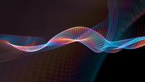 ilustração 3d do fundo científico da estrutura abstrata da onda Foto de Stock Royalty Free