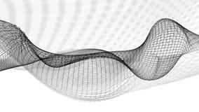 ilustração 3d do fundo científico da estrutura abstrata da onda Imagens de Stock