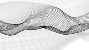 ilustração 3d do fundo científico da estrutura abstrata da onda Fotografia de Stock Royalty Free