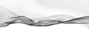 ilustração 3d do fundo científico da estrutura abstrata da onda Imagem de Stock Royalty Free