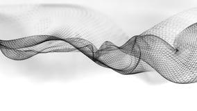 ilustração 3d do fundo científico da estrutura abstrata da onda Imagens de Stock Royalty Free