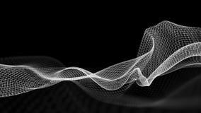 ilustração 3d do fundo científico da estrutura abstrata da onda Foto de Stock