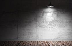ilustração 3d do interior concreto sujo Fotografia de Stock