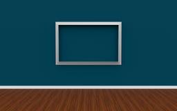 ilustração 3D do interior da galeria com quadro vazio da foto Imagem de Stock