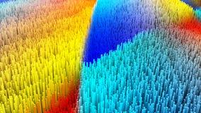 a ilustração 3D do macro abstrato rende a estrutura Foto de Stock Royalty Free