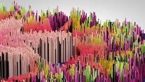 a ilustração 3D do macro abstrato rende a estrutura feita de colunas de milhões Imagens de Stock Royalty Free