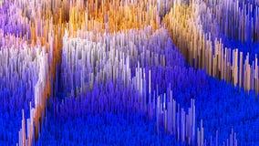 a ilustração 3D do macro abstrato rende a estrutura feita de colunas de milhões Fotografia de Stock Royalty Free