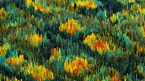 a ilustração 3D do macro abstrato rende a estrutura feita de colunas de milhões Foto de Stock