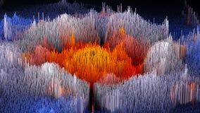 a ilustração 3D do macro abstrato rende a estrutura feita de colunas de milhões Imagem de Stock Royalty Free
