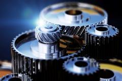 a ilustração 3d do metal da engrenagem roda a opinião do close-up Fotos de Stock Royalty Free