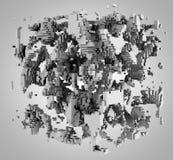 ilustração 3D do modelo tridimensional Foto de Stock Royalty Free
