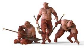 ilustração 3D do monstro dos mutantes isolados no branco Imagem de Stock Royalty Free