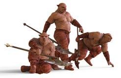 ilustração 3D do monstro dos mutantes isolados no branco Imagens de Stock