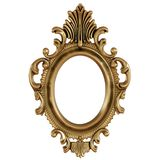 ilustração 3D do quadro do ouro para pintar ou da imagem no fundo branco ilustração stock